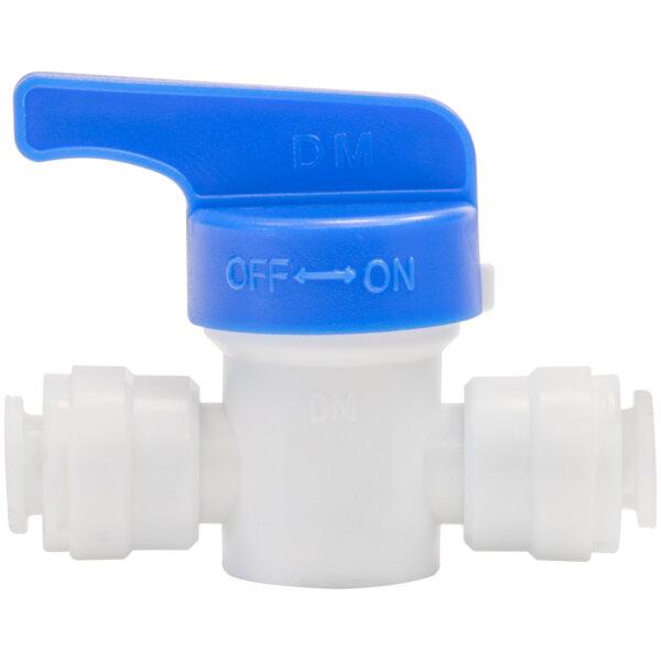 """DMfit - Absperrhahn Absperrventil für Kühlschrank Wasserfilter 1/4"""" (6mm) Schlauch"""